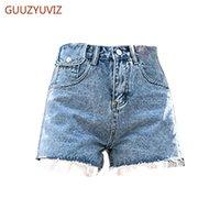 Pantalones cortos azules jeans feminino alta cintura mini sexy plus size denim pantalones cortos mujeres casuales spodenki damskie mujeres