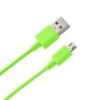Reiko 꼰 마이크로 USB 데이터 케이블 녹색 / 네이비 / 노란색에서 3.3 피트