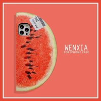 Summer 3D cartoon watermelon pattern phone cases for iphone 12 pro max case 11 huawei mate 30 P40 Silicon soft protective shockproof clear mobile cover acessories