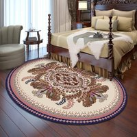 Carpets European Style Oval Carpet,Bedroom Bedsides Bed End Floor Mat,Classical Rug,Living Room Dinner Table Foot Pad,Drop