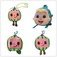 Cocomelon JJ 소년 만화 귀여운 봉제 배낭 어린이 아기 학교 가방 수박 미니 소녀 어깨 가방 크로스 바디 가방 패킷 아이들을위한 G61Expy