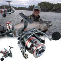 Yumoshi 5.2: 1 13 + 1bb металлическая катушка слева / правая рыболовные барабаны в одну сторону подшипников шарики спиннинг SR1000-7000 BAITACTING