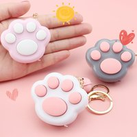 Mini Popit Cat Paw Game Keychain Led Electronic Memory Games For Kids Adults Pops-It Keychain Pops-It Anti Stress Fidget Toys GWF6727