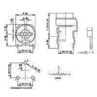 20pcs RM065 RM-065 100 200 500 1K 2K 5K 10K 20K 50K 100K 200k 500k 1m Ohm Trimpot Trimpot Potenciómetro Resistencia variable