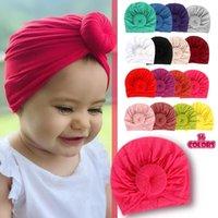 Haarschmuck Säuglingsbaby Mädchen Jungen Baumwolle Turban Headwear Kleinkind Kinder Knoten Hut Schöne weiche Haarbänder Haarwäsche
