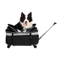 Pet Trolley Bag Rolling Carrier Travel Dog With Wheels For Cats Car Seat Covers