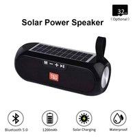 TG182 Power Solar Bluetooth Coluna Portátil Coluna Sem Fio Stereo Music Box Boombox TWS 5.0 Suporte ao ar livre TF / USB / AUX