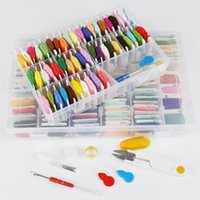 50 100 Colors Embroidery Thread Floss Cross Stitch Tool Kit Box For DIY Handmade Sewing Craft Set Tools Yarn