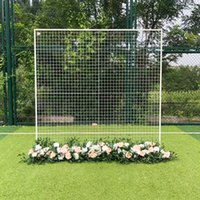 Square Iron Grid Arch Wedding Decoration Flower Stand Stage Background Shelf with Festival Props Party Decoration Grid Stand