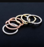 1 pair Hip Hop Claw Setting CZ Stone Bling Ice Out Big Circle Hoop Earrings for Women Charm Jewelry DFF3569