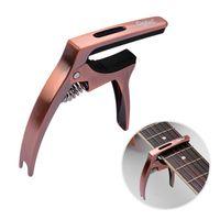 Q5 3-in-1 Multi-functional Guitar Capo Aluminum Alloy with Bridge Pin Puller for Electric Acoustic Folk Guitars