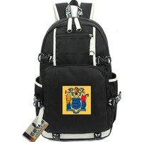 نيو جيرسي حقيبة الظهر حديقة الدولة العلم Daypack الحرية والازدهار أمريكا مدرسية الولايات المتحدة الأمريكية محمول حقيبة كمبيوتر رياضة حقيبة مدرسية في الهواء الطلق