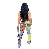Sportswear Women Bandanna Paisley Printed Tracksuit Slit Flare Pants Patchwork Draped Trousers Sweatpants S-XL