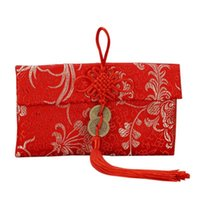 Año rojo envolvimiento chino nudo betrothal regalo bolso dinero bolsillo de alta calidad boda bolsas bolsas envoltura