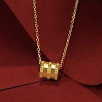 체인 여성 금도금 작은 허리 목걸이 모래 골드 펜던트 24K 시뮬레이션 노란색 보석 패션 선물 커플을위한