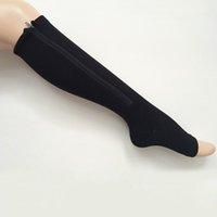 Las mujeres compresión cremallera calcetines para adelgazar la pata de la paleta 50pair / lote