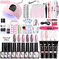 UR SUGAR UV Kit Acrylic Extension Quick Builder Building Gel Nail Polish with Lamp Clear Crystal Manicures Set