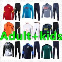 mens soccer tracksuit chandal futbol survetement foot jerseys 2021 kids Trainers Adult football jersey training wear jacket