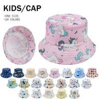 طفل بلا سينج بريم قبعة sunbonnet الشمس القبعات الصياد قبعات الأزهار يونيكورن طباعة الأطفال الرضع الاطفال الربيع الصيف يسقط 2-6 سنوات