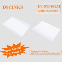 Ink Refill Kits UV DTF Film A A3 100PC Driect Printing No Need Glue For Pen Mug Bottle Wooden Gift Box