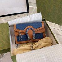 النساء المصممين الفموي أكياس 2021 مصمم المرأة حقائب اليد المحافظ الكلاسيكية الدنيم كاوبوي قماش سلسلة crossbody حقيبة الكتف