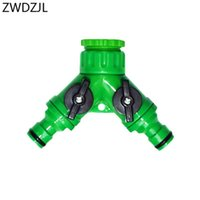 Watering Equipments Garden Tap Y-Connector 2 Way Hose Connector Adapter High Quality ABS Materials 10PCS