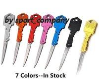 Woman Self-defense Keychain Keyring EDC Knives 7 Colors Mini Folding Knife Multifunctional Key Chain Blade Outdoor Saber Tool Gear