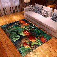 Carpets Halloween Design 3D Print For Home Living Room Bedroom Bedside Soft Flannel Kids Play Rugs Baby Crawl Floor Mat