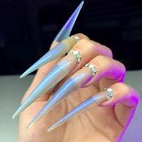 120 Stück / Set Salon Gefälschte Nagelspitzen Display 2021 Mode Falsche Nägel Zubehör für Erweiterung