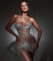 Evening dress Women cloth Sweetheart Silver Crystals Short Tassel Long dress Floor length Yousef aljasmi Kim kardashian Kylie jenner Kendal