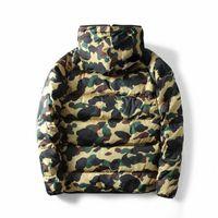 Зимний теплый свитер камуфляж мужские длинные толстовки с хлопковым мягким куртками уличные улицы мужчины молнии кардиган куртка Y5FD # #