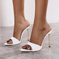 Sandals Women Slippers Snake Print Strappy Mule High Heels Open Toe Flip Flops Pointed Slides Party Shoes Woman