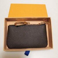 2021 Top-hochwertige Designer Brieftaschen Mini-Taschen Schlüsselanhänger Frankreich Paris Plaid Style Luxurys Herren Geldbörse High-ende mit Kastenschlüssel Beutel M62650