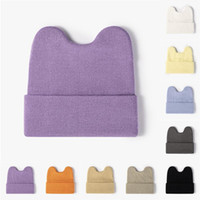 Berets Cute Winter Knitted Baby Hat Spring Autumn Crochet Boys Girls Cap Beanies For Women Men Unisex Warm Outdoor Solid Color#F
