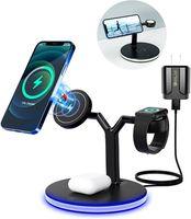 3 sur 1 chargeur magnétique sans fil 15W station de charge rapide pour téléphone portable montre plusieurs appareils iPhone 11 12 pro Max