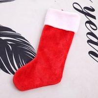 جوارب عيد الميلاد شجرة عيد الميلاد شنقا الديكور الموقد الجوارب الحلوى هدية حقيبة قصيرة المخملية سانتا كلاسيكي أحمر أبيض ورأى تخزين JY0607