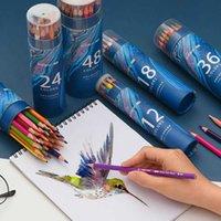 12 прямых цвет-72 гексагонального водорастворимого карандаша наполнение свинцовой бумаги
