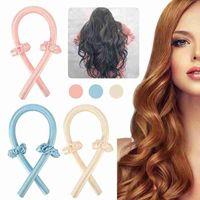 Heatless Rod Headband Lazy Curler Silk Curling Ribbon Make Hair Curly