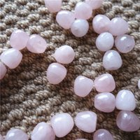 Doğal Brezilyalı Kuvars Kristalleri 13.5mm Elma Şekli Delik Gevşek Taş DIY Takı Yapımı Için Gevşek Taşlar 30 adet / grup
