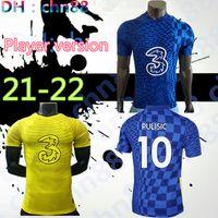 لاعب نسخة CFC 21 22 كرة القدم جيرسي pulisic Ziyech Havertz Kante Werner Abraham Chilwell Mount Jorginho 2021 2022 Giroud Football Shirt Men + Kids Kit