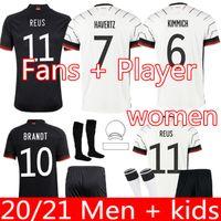 Fans Spieler Version 2021 Deutschland Fußball Jersey Gundogan Gnabry Werner Kroos 20 21 Kimmich Maillot de Foot Football Sane Goretzka Can Haptz Muller Männer + Kinder