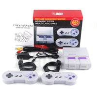 Super Classic SFC TV Handheld Mini Game Consoles Entertainment HD System For 660 NES SNES Games Console With English Retail Box DHL
