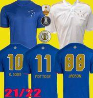 100. Yıldönümü Camisa 2021 2022 Centenary Cruzeiro Ev Futbol Formaları 21 22 Dede Léo M. Moreno Pottker Manoel 100 Anos Futbol Gömlek