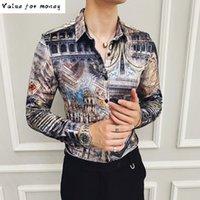 بوتيك القمصان الفانيلا رجل مطبوعة الملابس نادي وتتسابق المخملية طويلة الأكمام الأوروبية 2021 الشتاء الدافئة الرجال اللباس قميص