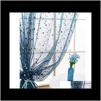 Porte-rideaux Linge de linge brodé à la chambre fraîche Salon naturel Chambre à coucher semi transparent