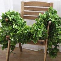 Имитация виноградного дерева листьев зеленый завод потолочные украшения цветок пластиковый ротан обмоток кондиционер водопровод