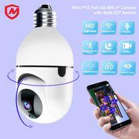 Mini PTZ Full HD WiFi IP cámara YC-BC01 con bombilla E27 Socket Video Video TRABAJO TUYA SMART LIFE