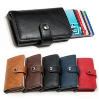 Storage Bags Male And Female Card Bag Anti-theft Automatic -up Metal Wallet Bank Box