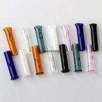 8mm / 12mm mini dicas de filtro de vidro com boca redonda plana para papéis de rolamento crus titular de cigarro de tabaco pyrex tubo de vidro fy2258