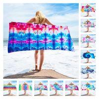 150 * 75 cm 28 Farbmikrofaser-Square Strandtuch Polyester Material Krawatten-Tuch-Tuch-Serie für Erwachsene Home Textilien T2I51828